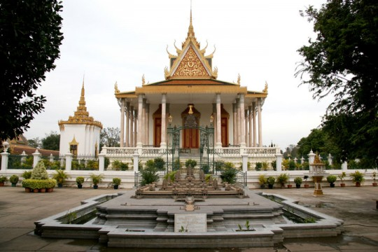 Explore the inspiring architecture at the famous Royal Palace in Phnom Penh.