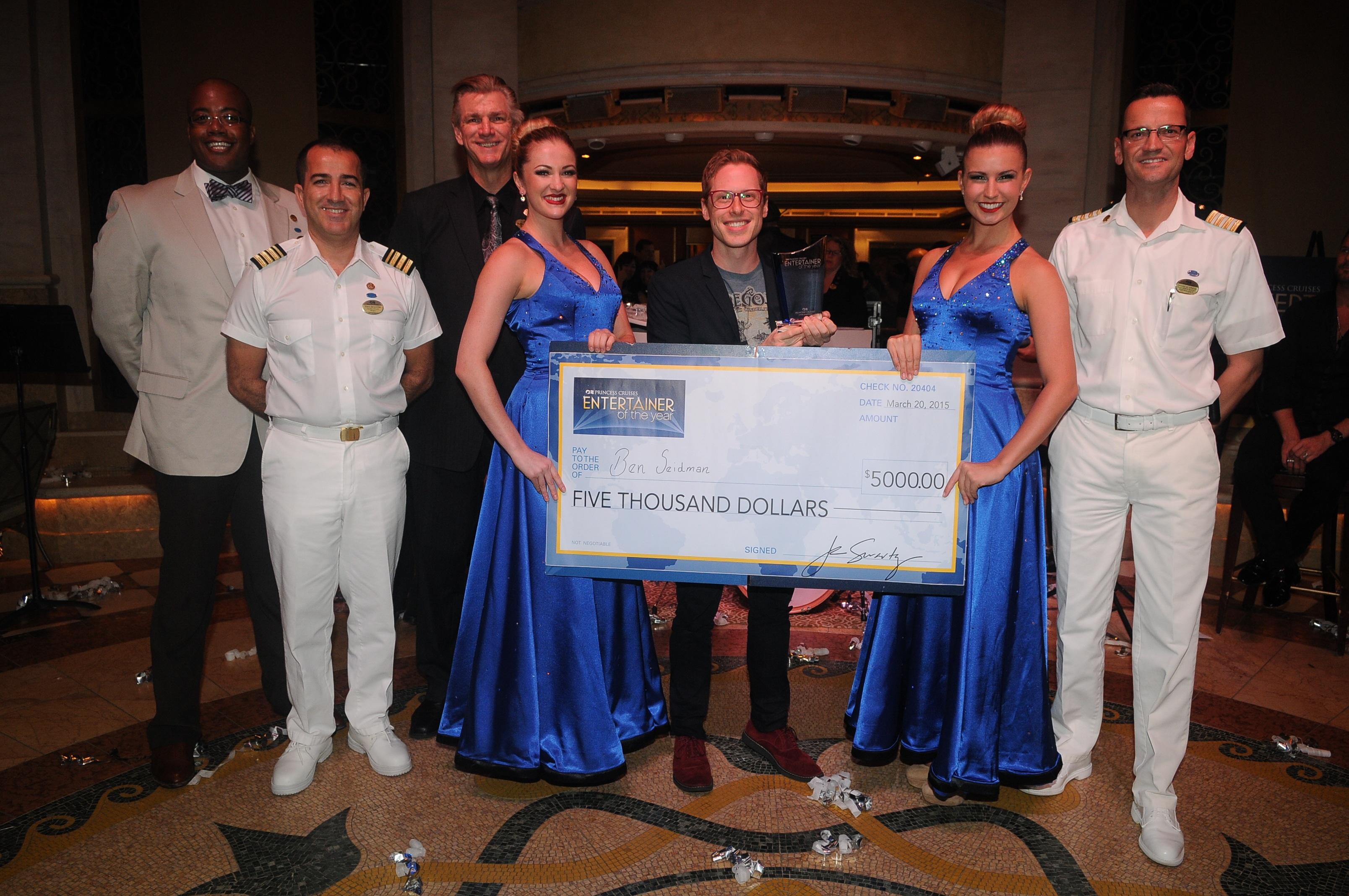 Comedic Magician Ben Seidman Chosen as Princess Cruises' Entertainer of the Year