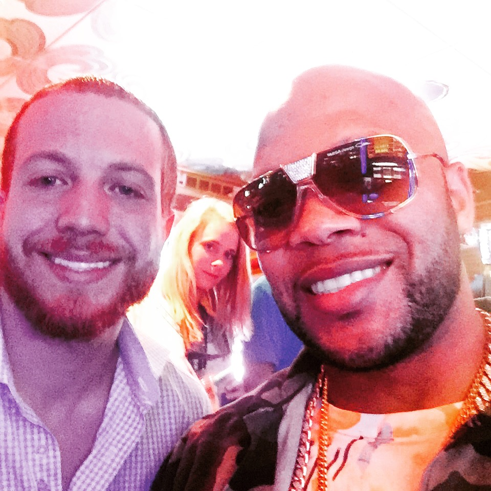 Me & Flo Rida on the Pearl